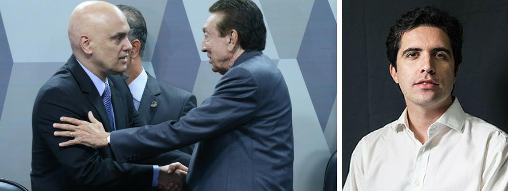 Bernardo Mello Franco e Alexandre de Moraes