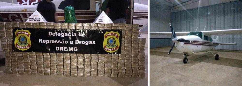 A Polícia Federal apreendeu na noite desta quarta-feira 15, em Pará de Minas (MG), uma aeronave Cessna Aircraft, modelo 210 M, que transportava 430 quilos de pasta base de cocaína; o piloto do avião foi preso em um hotel próximo à rodoviária de Belo Horizonte, para onde havia fugido; a operação foi realizada em conjunto com a Polícia Militar de Minas Gerais; apreensão revive o escândalo do helicóptero do pó, ligado aos deputados Gustavo e Zezé Perrela, além do senador Aécio Neves, que foi abafado pela grande mídia