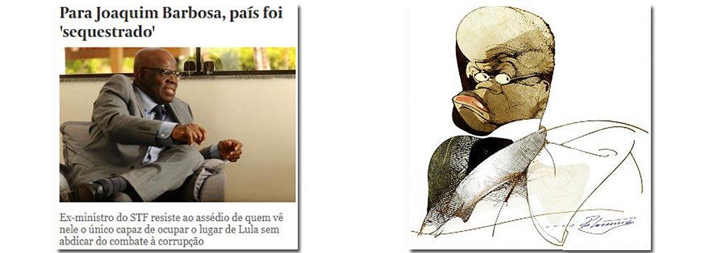 Editor do Tijolaço diz que Joaquim Barbosa acena para o eleitorado tucano, com seu discurso econômico, e petista, ao absolver o ex-presidente Lula; segundo ele, o ex-ministro diz que não é candidato, mas age como tal