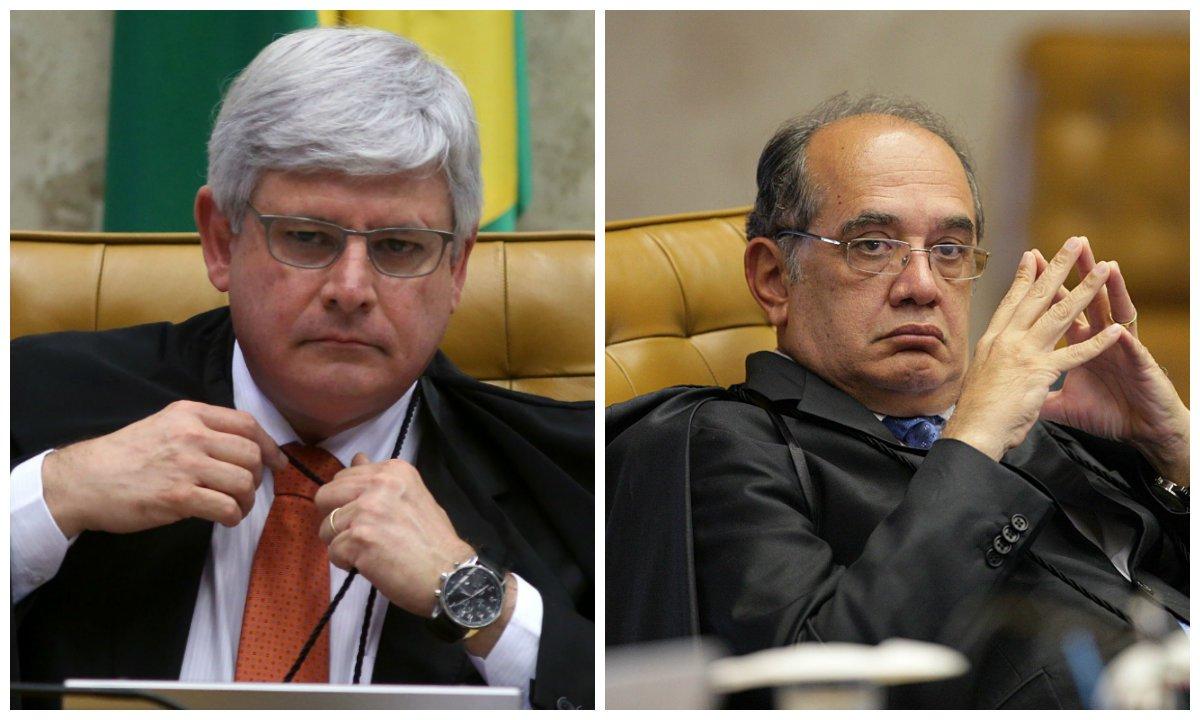 Procurador-geral da República, Rodrigo Janot, e ministro do Supremo Tribunal Federal (STF) Gilmar Mendes