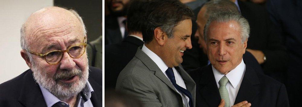 """""""Como explicar a cena de um presidente recebendo a sós em seu palácio, depois das dez da noite, o megaempresário investigado por corrupção, que paga mesada para um ex-deputado preso, confessa uma série de crimes, e depois sai assobiando para curtir sua fortuna na Quinta Avenida em Nova York?"""", questiona o jornalista Ricardo Kotscho sobre as delações do empresário Joesley Batista, da JBS,que implodiram o senador Aécio Neves (PSDB) e feriram de morte o governo de Michel Temer"""