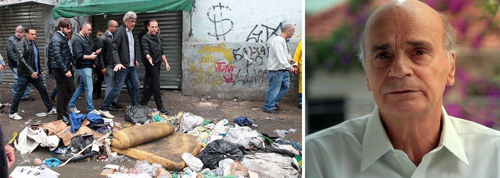 """O médico Drauzio Varella teceu duras críticas às recentes ações do prefeito de São Paulo, João Doria (PSDB), na Cracolândia; """"Estou vendo ações atabalhoadas. O que aconteceu ali na cracolândia foram medidas que pareciam não obedecer a nenhum planejamento detalhado, sem organização necessária, feita às pressas"""";Drauzio disse aindaque teve seu nome envolvido inadvertidamente duas vezes nas recentes discussões sobre a cracolândia"""
