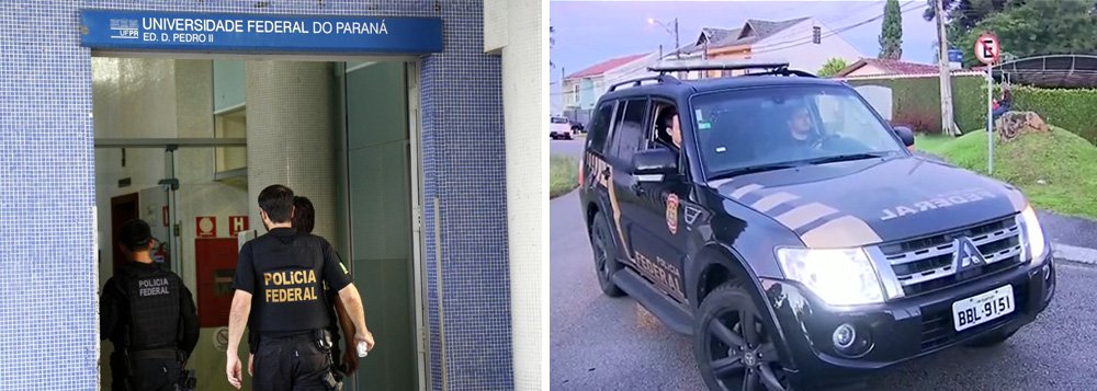 A segunda fase da Operação Research da Polícia Federal (PF), que investiga desvios de recursos da ordem de R$ 7,3 milhões da Universidade Federal do Paraná (UFPR), foi deflagrada na manhã de hoje (3); cerca de 50 policiais federais estão cumprindo 19 mandados judiciais, sendo seis de busca e apreensão; cinco de prisão temporária e oito de condução coercitiva, quando a pessoa é levada para a delegacia e depois é liberada