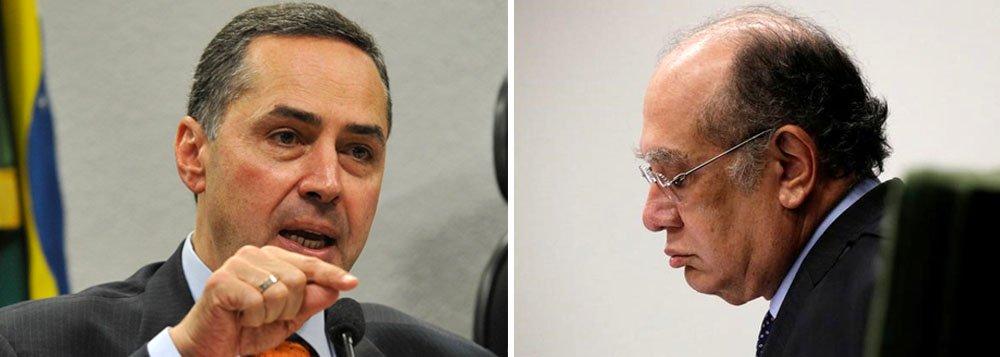 """Barroso disse a Gilmar que ele tem leniência com corruptos poderosos, principais protagonistas dos crimes de colarinho branco. O magistrado ainda disse que Gilmar não costuma trabalhar com a verdade, mas com ódio; """"Vossa Excelência muda a jurisprudência de acordo com o réu. Isso não é Estado de Direito, isso é estado de compadrio. Juiz não pode ter correligionário"""", atacou Barroso"""