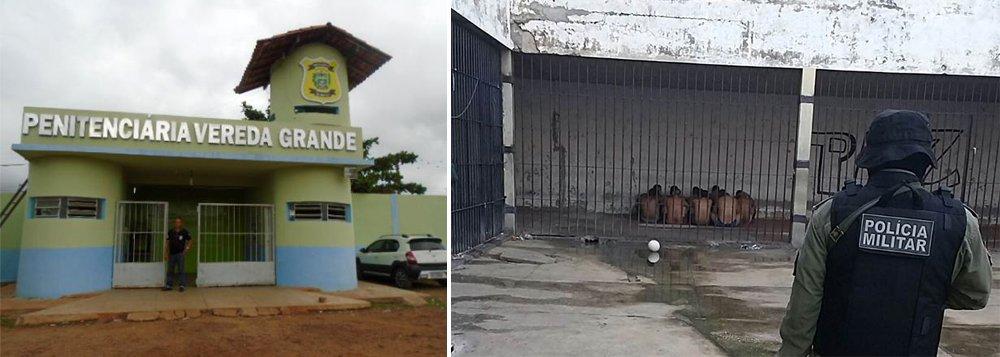 A Penitenciária Vereda Grande, em Floriano, Sul do Piauí, registrou uma tentativa de fuga nessa terça-feira (28); um preso foi baleado; um policial militar conteve uminterno tentou pular o muro externo da casa de detenção, deacordo como diretor jurídico do Sindicato dos Agentes Penitenciários do Piauí (Sinpoljuspi), Vilobaldo Carvalho