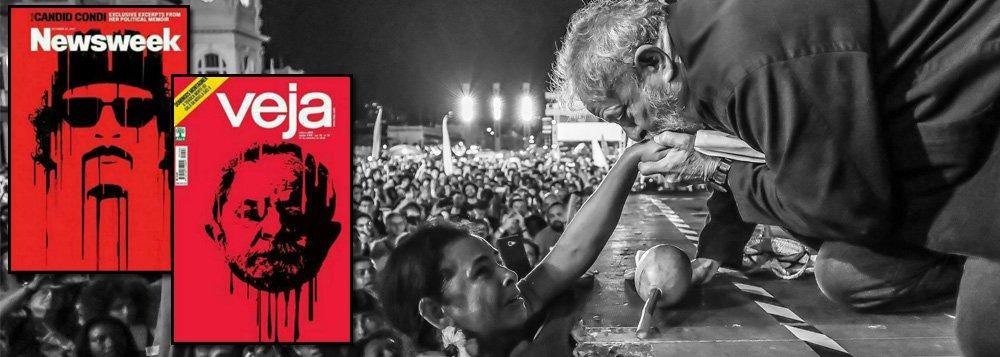 A decisão do Partido dos Trabalhadores de processar um colunista por incitação à violência, tomada neste fim de semana, faz lembrar que a mídia brasileira alimenta um instinto assassino contra o ex-presidente Lula, que deixou o poder com 87% de aprovação, há muitos anos; em setembro de 2016, por exemplo, a revista Veja plagiou a capa de Newsweek e estampou um Lula assassinado, com a cabeça arrancada, em sua capa; o problema da mídia é que ela não consegue assassinar o povo brasileiro, que vê Lula como o melhor presidente da história e pode até elegê-lo em primeiro turno nas próximas eleições – se eleições houver, é claro