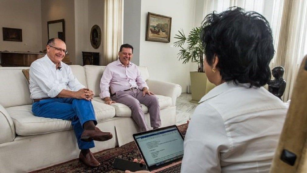 """O Governador do Estado de São Paulo Dr. Geraldo Alckmin, participou do """"Papo"""