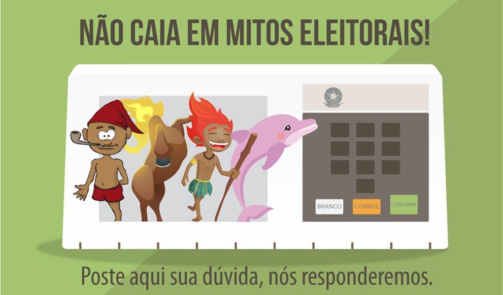 """O Tribunal Superior Eleitoral (TSE) está lançando em suas redes sociais a campanha Mitos Eleitorais; o primeiro tema a ser abordado na fanpage, no Facebook e no perfil do tribunal no Twitter será """"Votar nulo anula uma eleição? objetivo é esclarecer questões sobre o processo de votação, opções de voto e o resultado de uma eleição; ideia da campanha é desmistificar alguns temas e esclarecer o eleitor brasileiro"""