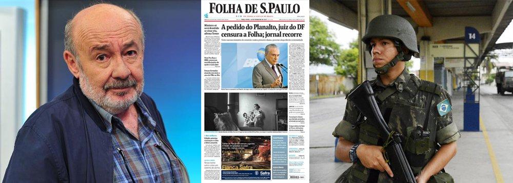 """""""Censura nos jornais, algo que não era registrado desde a ditadura militar, tropas nas ruas para garantir a segurança pública, o que falta ainda para voltarmos a 1964? Entre a realidade e a fantasia, no atropelo dos fatos que são negados, imagens do passado voltam a ameaçar o futuro da nossa democracia"""", afirma o jornalista Ricardo Kostcho sobre o Brasil pós-golpe"""