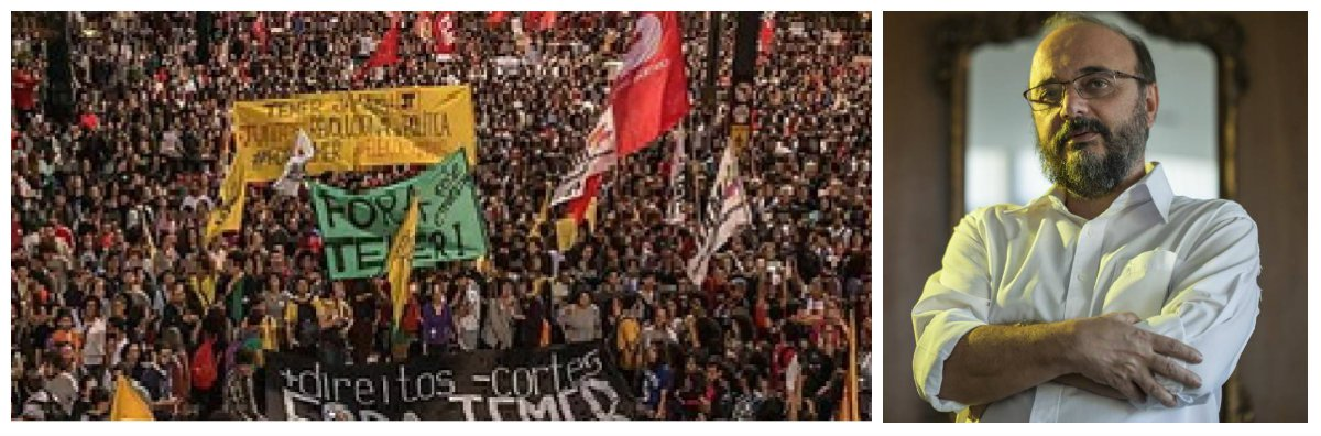 """Em entrevista à BBC Brasil, o cientista político Leonardo Avritzer, autor de """"Impasses da Democracia no Brasil"""" avalia que """"as eleições diretas não são, juridicamente, o caminho mais curto - mas, politicamente, são a melhor saída para a democracia"""". Avritzer diz ainda que há um """"potencial de forte mobilização"""", pela direita e pela esquerda e que """"se houver composição nessa direção, as eleições diretas virão"""""""