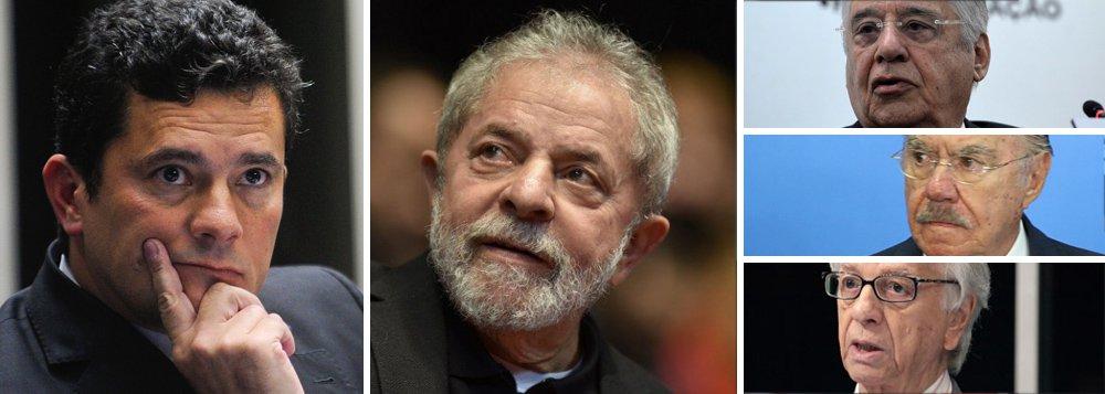 """Na ação em julga se houve irregularidades nas despesas de armazenamento do acervo presidencial pelo Instituto Lula, o juiz Sérgio Moro negou nesta sexta-feira, 17, pedido da defesa do presidente do instituto, Paulo Okamotto, para solicitar a relação de todas as empresas que doaram para os institutos dos ex-presidentes Fernando Henrique Cardoso (PSDB), Itamar Franco (que morreu em 2011) e José Sarney (PMDB); Moro disse que o pedido pode ser interpretado como quebra de sigilo; """"Caberá às entidades em questão atender ou não o requerimento da Defesa acerca desses dados"""", disse o magistrado"""