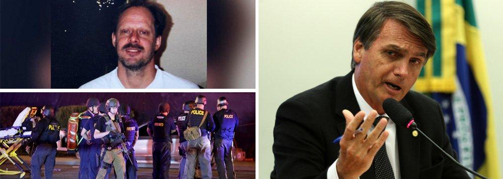 O deputado federal Jair Bolsonaro, é useiro e vezeiro em dar declarações infelizes, mas foram duas delas, que me fizeram ligar o alerta. Uma, foi quando ele declarou que a sua especialidade é matar. A outra, foi quando revelou, que se porventura fosse eleito presidente do Brasil, colocaria uma arma nas mãos de cada cidadão de bem