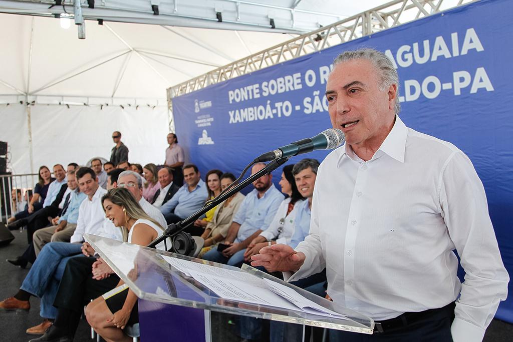 Xambioá/TO - Cerimônia de Assinatura da Ordem de Serviço da Construção de Ponte Rodoviária sobre o Rio Araguaia (Beto Barata/PR)