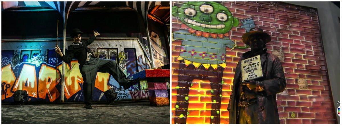"""Com o enredo """"Eu Sou a Arte: Meu Palco é a Rua"""", a escola de samba de São Paulo abordou grafite, trouxe mensagem sobre """"limpeza"""" e nomeou a bateria de """"Cinquenta Mil Tons de Cinza"""""""