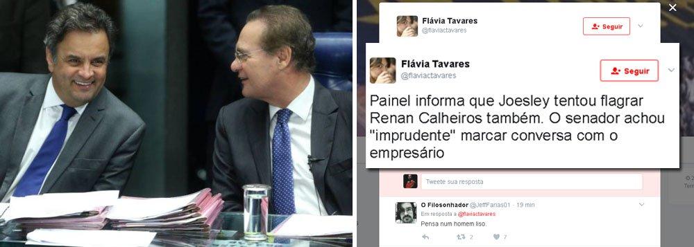 """Líder do PMDB no Senado, Renan Calheiros (PMDB-AL) evitou encontro com Joesley Batista, da JBS, por achar """"imprudente marcar uma conversa com o empresário"""""""