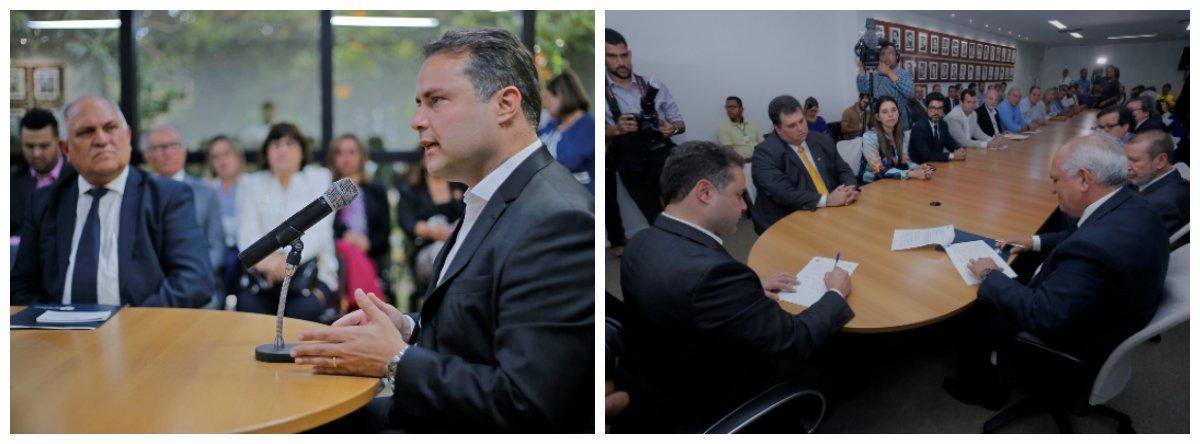 """O governo de Alagoas e o Tribunal de Justiça do Estado lançaram o Programa Rural Legal, que tem como objetivo fortalecer o vínculo do agricultor com a terra e garantir acesso ao mercado do crédito; """"Assim, ele pode viabilizar empréstimos para investir em sua propriedade rural, melhorar a sua casa, adquirir equipamentos, fazendo girar a economia"""", explicou o governador Renan Filho (PMDB)"""