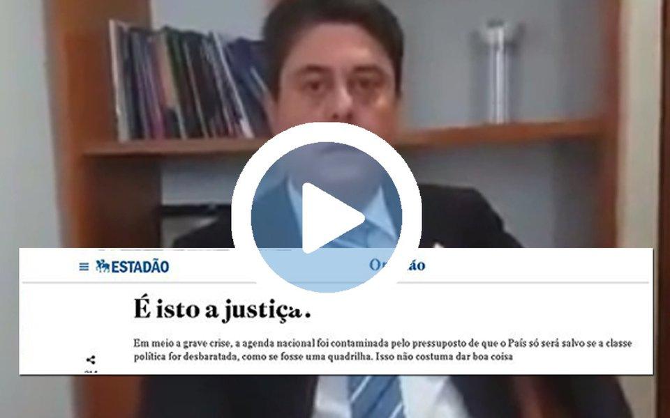 """O deputado federal Wadih Damous (PT-RJ) comentou o editorial do Estado de S. Paulo criticando a operação Lava Jato; para o parlamentar, é """"engraçado que esse mesmo Estadão, quando era só para atacar o Lula, as delações valiam, os delatores eram tratados como pessoas genuinamente arrependidas. Agora que Temer está na berlinda, eles vêm com essa história""""; """"Eu assinaria embaixo esse editorial se ele não fosse pautado pelo cinismo"""", acrescentou"""