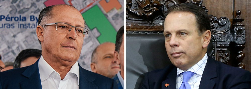 """""""O eleitorado não quer mais aventureiros. Agora todo mundo é novo. Dá impressão que ninguém é político, que não exercer mandato ou disputou um. Não é o novo que estará em jogo, mas sim quem tem consistência"""", declarou Alckmin, praticamente assumindo seu rompimento com João Doria"""