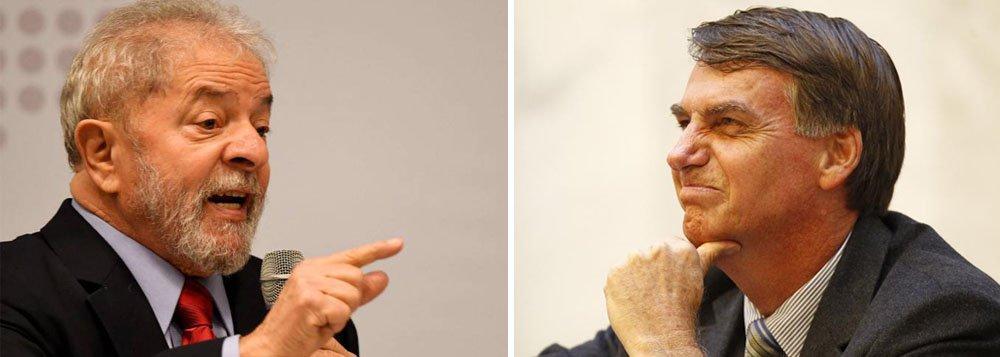 """O levantamento do Instituto Paraná Pesquisas, que apontou que 90,6% dos brasileiros querem a saída de Michel Temer e a realização de eleições diretas, revela ainda que, neste cenário, o segundo turno seria disputado entre o ex-presidente Luiz Inácio Lula da Silva e o deputado de extrema direita Jair Bolsonaro (PSC-RJ); Lula teria 25,8% contra 16,1% do deputado fluminense; ou seja: o PSDB, que se associou a Eduardo Cunha e Michel Temer para golpear a democracia brasileira ficaria de fora; é por isso mesmo que a oligarquia política luta para emplacar o """"golpe dentro do golpe"""", que seria a substituição de Temer por um presidente biônico, por meio de eleições indiretas"""