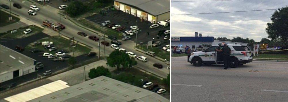 """Tiroteio em uma fábrica de Orlando, Flórida, nos Estados Unidos, deixou """"várias vítimas"""", segundo a polícia; de acordo com a corporação, a situação já teria sido controlada; local da ocorrência foi interditado pelas forças de segurança."""