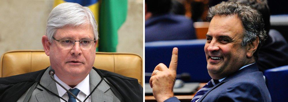Prescreve uma das frentes de investigação contra o senador Aécio Neves (PSDB-MG), com base na delação do ex-presidente da Transpetro Sérgio Machado, que prestou depoimento em maio do ano passado; segundo o delator, o tucano teria recebido R$ 1 milhão em 1998, quando ainda era deputado federal; o procurador-geral da República, Rodrigo Janot, pediu investigação ao STF em outubro de 2016 e teve o retorno do pedido no mesmo dia, mas se manifestou novamente apenas nesta quinta-feira, quando pediu o arquivamento por prescrição