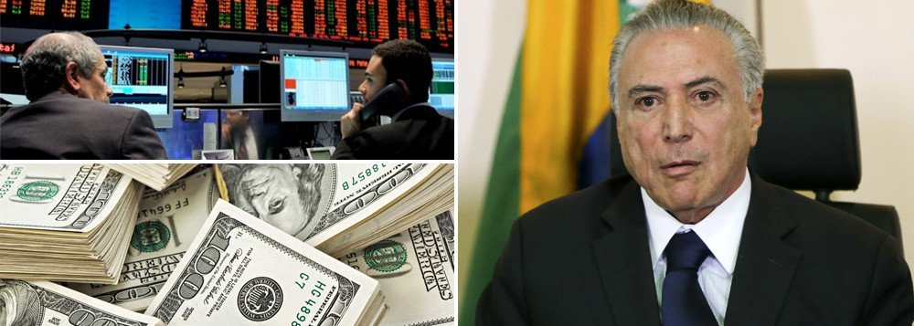 """Michel Temer passou a ser um estorvo também para o mercado financeiro; Ibovespa acelerou suas perdas após Michel Temer anunciar em depoimento público que não irá renunciar ao cargo de presidente da República; Temer iniciou o discurso às 16h11 e encerrou às 16h16 (horário de Brasília); nesse meio tempo, o Ibovespa mergulhou de 62.288 pontos para 61.600 pontos, acelerando as perdas após ele declarar o compromisso com o Brasil e negar as acusações feitas a ele; """"Não renunciarei"""", enfatizou"""