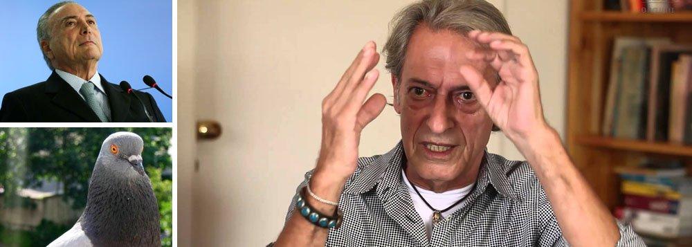 """""""Temer parece pombo de catedral: peito estufado e só faz cagada!"""", diz o colunista José Simão; ontem, Michel Temer foi apontado pela Polícia Federal como chefe do quadrilhão e o STF autorizou novo inquérito por propinas no porto de Santos"""