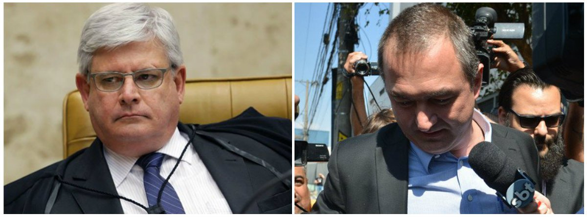 """Em coletiva convocada às pressas, o procurador-geral da República, Rodrigo Janot, informou ter determinado a abertura de uma investigação para apurar indícios de ocultação de informação sobre o acordo de delação premiada da JBS; Janot citou indícios de crimes """"gravíssimos"""" numa conversa entre Joesley Batista e Ricardo Saud, ex-executivo do grupo; a gravação da conversa de quatro horas foi submetida por ele ao Supremo Tribunal Federal; segundo Janot, a """"provável rescisão de um acordo de colaboração premiada não invalida nenhuma prova"""", prejudicando apenas os benefícios concedidos aos delatores; o áudio faz """"referências indevidas"""" à PGR e ao Supremo, informou ainda; confira o despacho de Janot"""