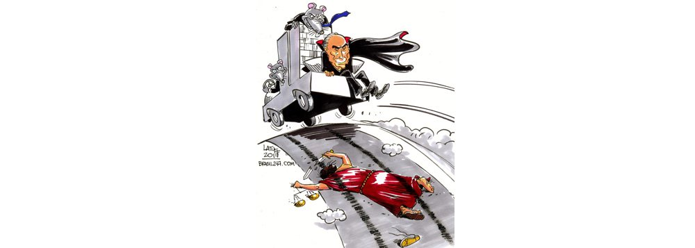 Chargista Carlos Latuff registra odia em que a Câmara dos Deputados concedeu a Michel Temer anista pelo crime de corrupção passiva; uma Casa dominada por ratos atropela a Justiça rejeitando a peça do procurador-geral da República, Rodrigo Janot