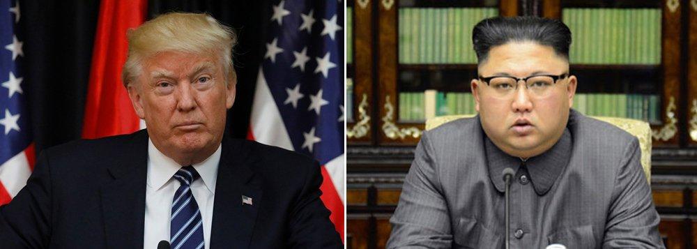 """O presidente dos Estados Unidos, Donald Trump, voltou a ameaçar o líder norte-coreano Kim Jong-Un. Em discurso para a campanha do senador Luther Strange, no estado de Alabama, Trump falou sobre a tensão na península da Coreia; """"Não podemos ter homens loucos lá fora atirando foguetes em todo o lugar"""", afirmou o presidente republicano; """"O homem-foguete deveria ter sido tratado há muito tempo"""""""