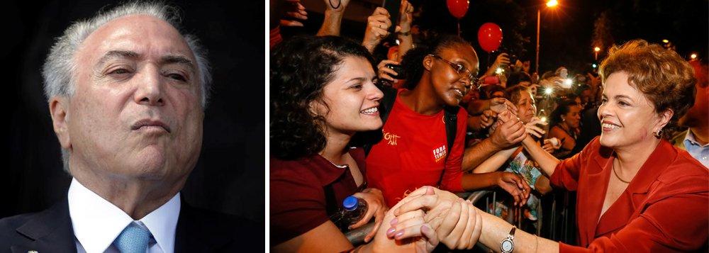 """O CNI/Ibope disponibilizou os dados estratificados da última pesquisa de aprovação do governo; para o Nordeste, 72% acham o governo Temer pior que Dilma. Entre homens e mulheres de 25 a 54 anos, 62% acham o governo Temer pior; entre os mais pobres, com renda familiar até 1 salário, 69% acham o governo Temer pior que o governo Dilma; """"Isso mostra que o povo pode não estar indo às ruas, porque ainda não vislumbrou uma estratégia segura"""", diz o jornalista Miguel do Rosário, do Cafezinho"""