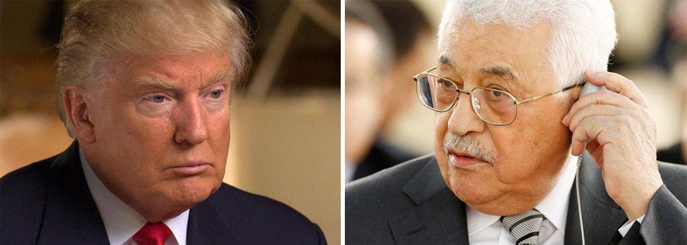 """O presidente americano Donald Trump comunicou-se nesta sexta-feira 10 com o presidente palestino, Mahmud Abbas, e o convidou a visitar Washington em um futuro próximo, informou a WAFA, agência de notícias oficial palestina;""""Trump afirmou seu compromisso com um processo que conduza a uma paz verdadeira entre palestinos e israelenses"""", disseà agência o porta-voz de Abbas, Nabil Abu Rudeineh"""