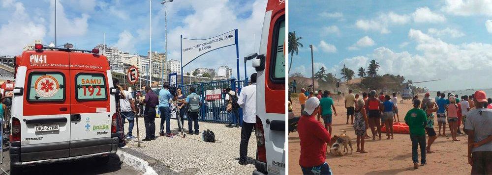 A Marinha revisou para 18 o número de mortos em naufrágio ocorrido nesta quinta-feira 24 em Salvador; a Capitania trabalhava com a hipótese de 23 vítimas no acidente acontecido na região de Vera Cruz; até o momento, mais de 80 pessoas já foram resgatadas - a embarcação, com capacidade para 160 passageiros, levava 129 pessoas e mais 4 tripulante