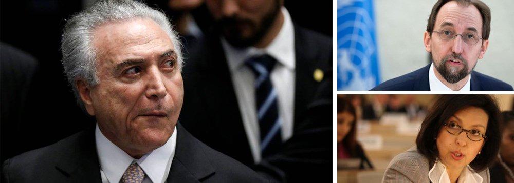 """O governo de Michel Temer fez um duro e raro ataque contra o mais alto representante da ONU para Direitos Humanos, Zeid Al Hussein, sugerindo até mesmo que ele teria se baseado em """"desinformação""""; na segunda-feira (11), o alto representante da ONU disse que o """"escândalo"""" de corrupção no Brasil revela como o problema está profundamente enraizado em """"todos os níveis de governo"""" e ameaça a democracia"""