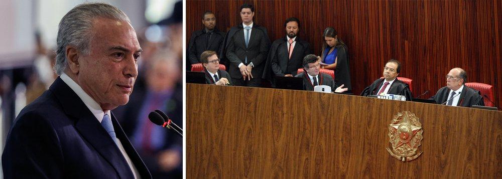 """""""A absolvição de Temer, que deverá ser utilizada com fins políticos para convencer o PSDB a não abandonar a pinguela do governo e manter-se de pé na luta contra a Globo, não significa que a sua campanha foi feita dentro da lisura exigida pelos cânones democráticos e ele é inocente, e sim que ele superou um de vários obstáculos na corrida pela sobrevivência de seu mandato, ameaçado pelas revelações de Joesley Batista e pelo vídeo em que seu amigo íntimo Rodrigo Rocha Loures aparece como 'homem da mala', para alguns e 'mula' para outros"""", diz o colunista do 247 Alex Solnik; """"Temer vai ganhar essa parada, mas ainda não ganhou a guerra"""""""