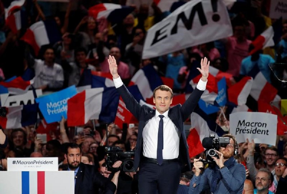 Candidato à Presidência da França, Emmanuel Macron. 17/04/2017 REUTERS/Christian Hartmann