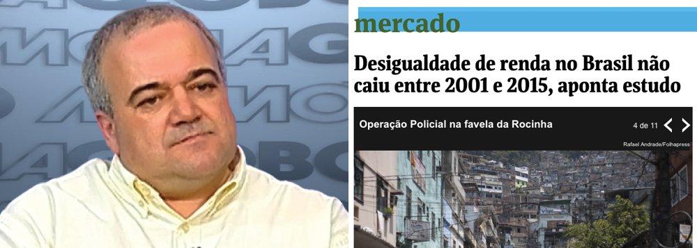 """O jornalista Mário Marona classificou como """"cascata"""" o estudo do World Wealth and Income Database, codirigido pelo economista Thomas Piketty, que disse que a desigualdade de renda no Brasil não caiu entre 2001 e 2015; Marona aponta que o estudo retira suas conclusões de uma análise das declarações de imposto de renda no Brasil nos últimos 16 anos; """"Não faz o menor sentido uma pesquisa se basear somente em dados da Receita Federal num país, como o Brasil, em que 85% da população não declara imposto de renda, percentual em que estão incluídos TODOS os pobres"""", diz Marona, que também critica a Folha de S. Paulo por não ter observado o erro"""