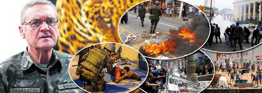 """General Eduardo Dias da Costa Villas Bôas, o comandante do Exército, comenta a crise de segurança que assola o País desde as primeiras horas deste ano e afirma: """"Não queremos que o uso das Forças Armadas interfira na vida do país""""; """"Esgarçamo-nos tanto, nivelamos tanto por baixo os parâmetros do ponto de vista ético e moral, que somos um país sem um mínimo de disciplina social"""", declara; """"Somos um país que está à deriva, que não sabe o que pretende ser, o que quer ser e o que deve ser"""", completa o comandante"""