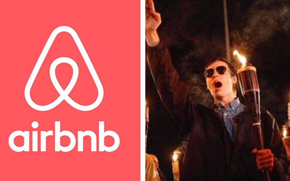 """Empresaque disponibiliza os serviços de anúncio, descoberta e reservas de acomodações verificou cada um dos perfis interessados em residências em Charlottesville; Airnbnb identificou quais faziam parte do movimento Unite the Right, e suspenderam permanentemente esses usuários por comportamento antiético e violarem os termos de uso do site; Brian Chesky, CEO da Airbnb declarou oficialmente que reafirma seu compromisso de proibir usuários cujo comportamento é """"antitético ao Compromisso da Comunidade Airbnb"""""""