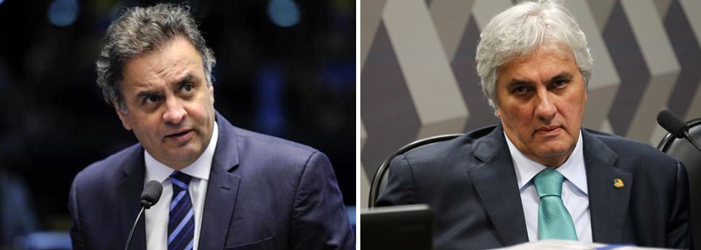 Senador e presidente afastado do PSDB Aécio Neves (MG) defendeu, há pouco menos de dois anos, a prisão do então senador do PT Delcídio do Amaral (MS); na ocasião, Aécio também foi um dos principais articuladores para que o Senado ratificasse a prisão de Delcidio pelo plenário da Casa; nesta terça-feira (26), porém, foi o tucano que teve o mandato suspenso pelo Supremo Tribunal Federal (STF), além de ter sido proibido de sair de casa à noite e de manter contato com outros investigados da Lava Jato, em uma situação semelhante a de Delcídio