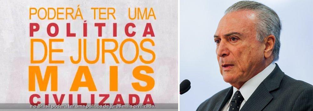 """Embora tenha apoiado o golpe parlamentar contra a presidente Dilma Rousseff, o PSB deixará claro nesta quinta-feira, 22, que Michel Temer não tem mais condições de governar o país; em programa partidário de 10 minutos que será exibido nesta noite em cadeia nacional de rádio e televisão, o PSB reforçara sua posição contra as reformas trabalhista e da Previdência e pede a renúncia de Temer com a escolha de seu substituto por eleições diretas; """"Fomos a favor das eleições diretas em 1984 para acabar com a ditadura. Agora somos a favor das Diretas Já para impedir que as interferências do poder econômico continuem valendo mais do que a vontade da população e ditando os rumos do país"""", diz o programa; assista acima"""