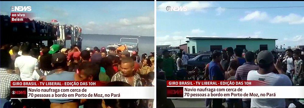 Um navio naufragou na madrugada desta quarta-feira, 23, com 70 pessoas a bordo em uma área denominada de Ponte Grande do Xingú, entre as cidades de Porto de Moz e Senador José Porfírio, no sudoeste do Pará; segundo a Secretaria de Estado de Segurança Pública e Defesa Social (Segup), já foram encontrados sete corpos de vítimas do naufrágio; até às 10h, apenas 25 vítimas do naufrágio chegaram à margem do rio com vida