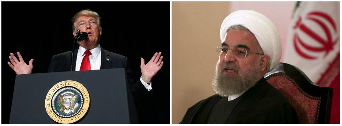 """O presidente dos Estados Unidos, Donald Trump, disse a jornalistas nesta quinta-feira que """"nada está fora da mesa"""" em termos de uma resposta ao teste de míssil balístico do Irã; Trump fez o comentário em resposta a uma pergunta sobre se ele consideraria opções militares para responder ao Irã, um dia depois que seu assessor de segurança nacional colocou Teerã """"sob advertência"""""""