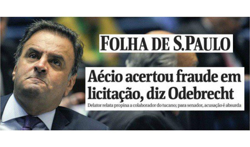 Parece notícia velha, mas não é. O senador Aécio Neves (PSDB-MG) foi delatado pela Odebrecht por receber propinas entre 2,5% a 3% por contrato com a empreiteira
