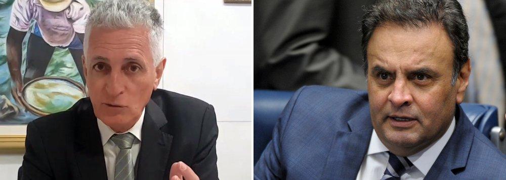 """""""Finalmente a máscara de Aecinho Malvadeza cai para que o Brasil finalmente o conheça como é: corrupto, golpista e fanfarrão"""", afirma odeputado estadual Rogério Correia (PT-MG), em referência à delação de Benedicto Júnior, ex-presidente da Odebrecht Infraestrutura, que atinge o senador Aécio Neves (PSDB-MG); """"Já vai tarde para o lixo da história!"""", diz Correia; de acordo com o delator, quando o tucano governava Minas, eles dois se reuniram para tratar de um esquema de fraude em licitação na obra da Cidade Administrativa; empresas teriam repassado cerca de R$ 63 milhões em propinas para o tucano"""