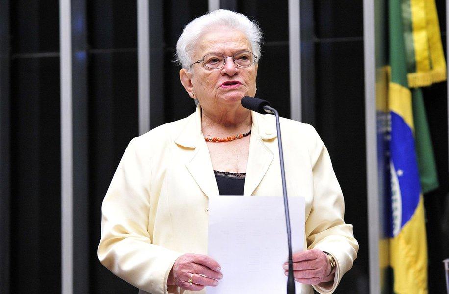 A deputada Luiza Erundina (PSol-SP) é a terceira a registrar candidatura ao cargo de presidente da Câmara dos Deputados, após Jovair Arantes (PTB-GO) e André Figueiredo (PDT-CE);um dos objetivos da deputada é impedir que cargos da Mesa Diretora sejam preenchidos por investigados em operações de combate à corrupção