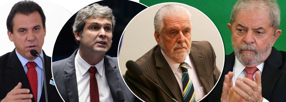 O ex-presidente Luiz Inácio Lula da Silva, pressionado a assumir o comando do PT para evitar uma debandada de insatisfeitos para outras legendas de esquerda, já está traçando um plano para reestruturar o partido; circula nos bastidores a ideia de criar cinco vice-presidências regionais paraajudá-lo na tarefa de resgatar o petismo das cinzas; Lula pretende tocar a máquina partidária de forma colegiada, com vices fortes a seu lado; entre os cotados, Lindbergh Farias (RJ), Jaques Wagner (BA) e Luiz Marinho (SP)