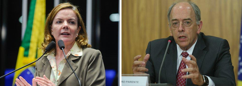 """A senadora Gleisi Hoffman (PT-PR) fez um balanço do que sobrou das 30 empresas chamadas por Pedro Parente para uma licitação da Petrobras, que vetou empresas brasileiras: 30 convidados, 21 envolvidas em escândalos, 8 acabaram de fechar acordo de leniência no exterior, 4 bloqueadas pelo Banco Mundial, 4 com condenações múltiplas, 3 com presidente acusado de corrupção, 2 citadas na Unaoil"""""""