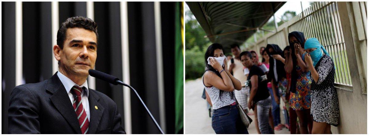 Nota assinada pelo presidente da Comissão de Direitos Humanos e Minorias da Câmara, deputado Padre João (PT-MG), divulgada nesta terça-feira 3, diz que o colegiado representará ao Conselho Nacional de Justiça (CNJ) e ao Conselho Nacional de Direitos Humanos (CNDH) para a realização de diligências comuns em caráter urgente a todas as unidades do sistema penitenciário da capital amazonense, entre outras ações; o deputado também anuncia requerimento para realizar uma audiência pública no Congresso a respeito do massacre e das rebeliões que totalizaram 60 mortos nos últimos dias