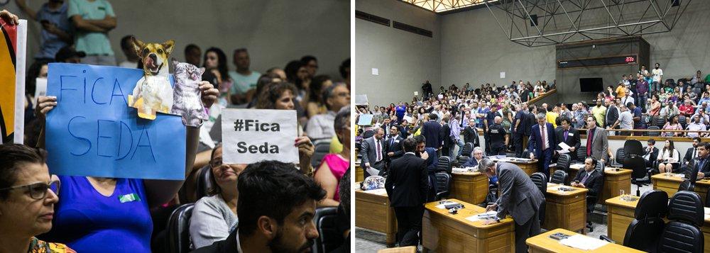 """A Câmara Municipal de Porto Alegre tomou suas primeiras decisões do ano e da gestão de Nelson Marchezan Jr. (PSDB) à frente da Prefeitura da capital gaúcha; em uma sessão tensa, com as galerias lotadas, a Câmara deliberou sobre o projeto que propôs a extinção de 16 secretarias municipais, a criação de nove secretarias e estabeleceu as finalidades e competências dessas novas pastas; entre as primeiras medidas da """"era Marchezan"""", as que causaram maiores protestos foram as que propuseram a retirada da coordenação do licenciamento ambiental do âmbito da Secretaria Municipal do Meio Ambiente (Smam) e a extinção da Secretaria Especial dos Direitos Animais (Seda)"""